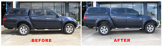 """Before and After 2"""" Lift Kit Installation"""