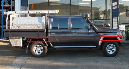 Toyota Landcruiser 70 Series Dual Cab Before Lift