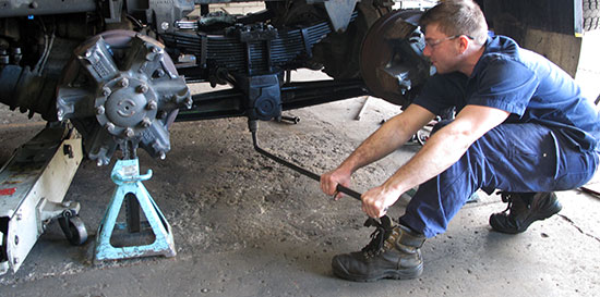 Loose ubolts can also cause a leaf spring to walk out of position