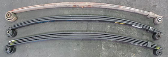 F250-F350 3 leat and 4 leaf spring comparison