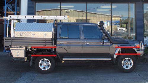 Toyota Landcruiser 70 Series Dual Cab Lift Kit