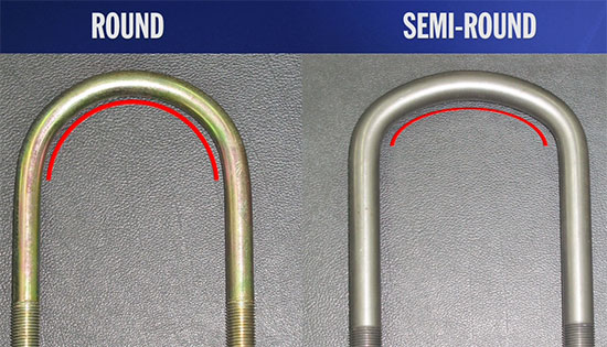 Ubolts round and semi-round