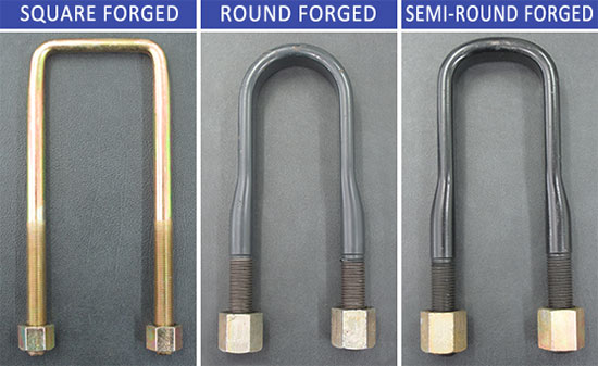Ubolts square forged, round forged, semi-round forged
